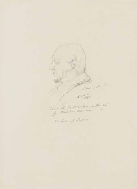 Prince Augustus Frederick, Duke of Sussex, by Alfred, Count D'Orsay, 1843 -NPG 4026(54) - © National Portrait Gallery, London