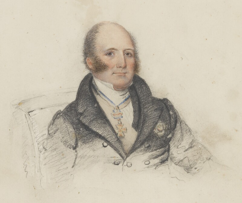 Unknown man, formerly known as William Frederick, 2nd Duke of Gloucester, by Unknown artist, circa 1820-1825 - NPG 1576b - © National Portrait Gallery, London
