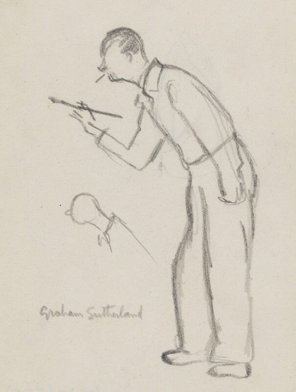 Graham Vivian Sutherland, by Sir David Low, circa 1949 - NPG 4529(355) - © Solo Syndication Ltd
