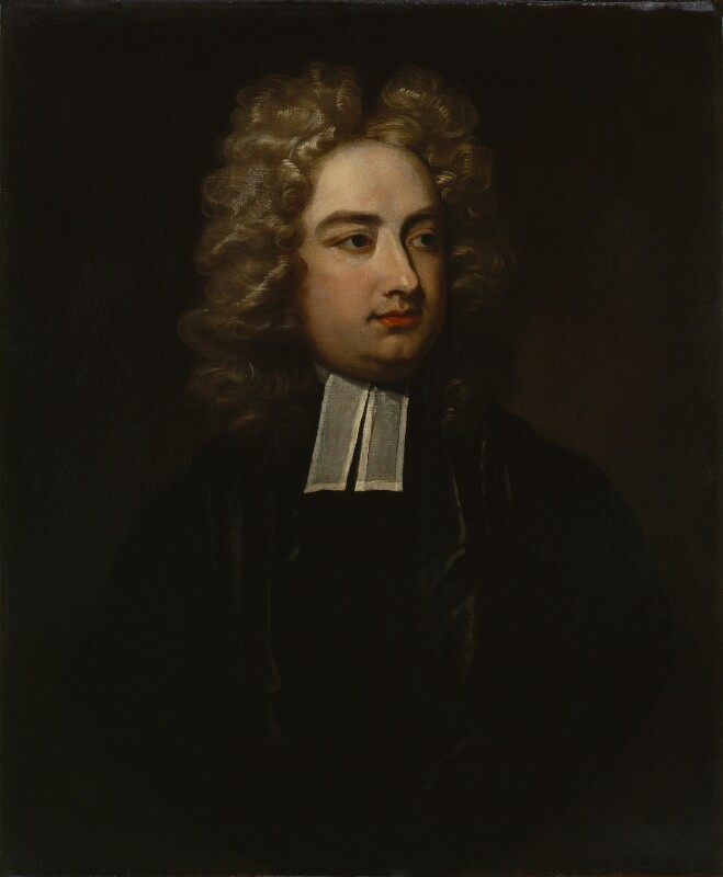 Jonathan Swift, by studio of Charles Jervas, based on a work of 1709-1710 -NPG 4407 - © National Portrait Gallery, London