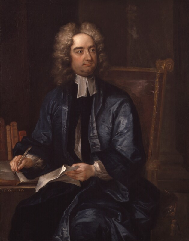 Jonathan Swift, by Charles Jervas, circa 1718 -NPG 278 - © National Portrait Gallery, London