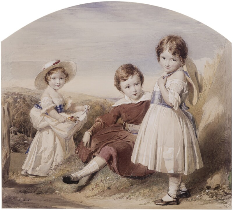 Swinburne and his sisters, by George Richmond, 1843 - NPG 1762 - © National Portrait Gallery, London