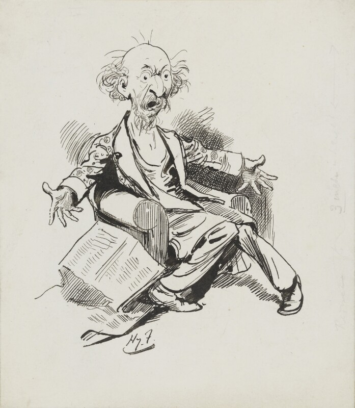 Algernon Charles Swinburne, by Harry Furniss, published 16 August 1890 - NPG 3611 - © National Portrait Gallery, London