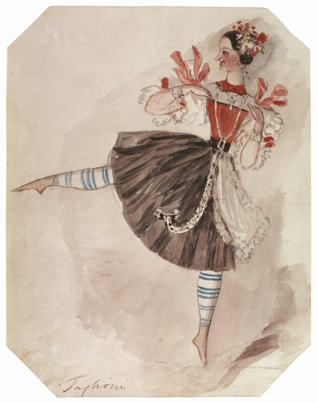 Marie Taglioni, by Alfred Edward Chalon, circa 1831 -NPG 1962(l) - © National Portrait Gallery, London