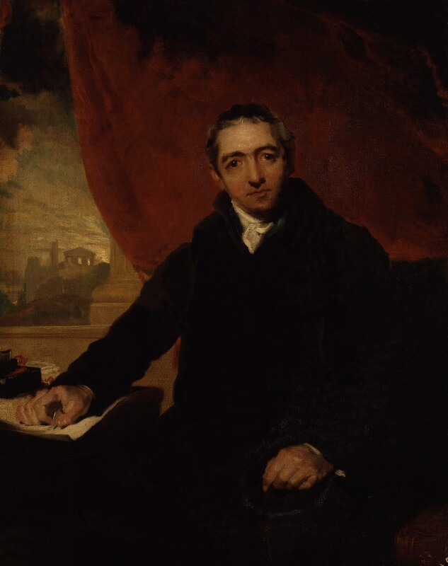 Thomas Taylor, by Richard Evans; Sir Thomas Lawrence, 1812, based on a work exhibited in circa 1812 -NPG 374 -