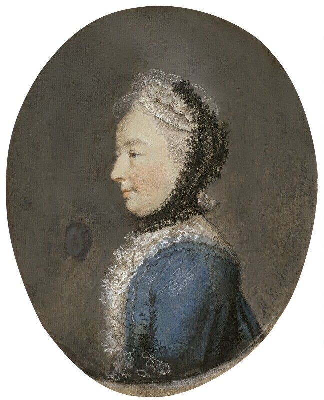 Anna Grenville-Temple (née Chamber), Countess Temple, by Hugh Douglas Hamilton, 1770 -NPG 246 - © National Portrait Gallery, London