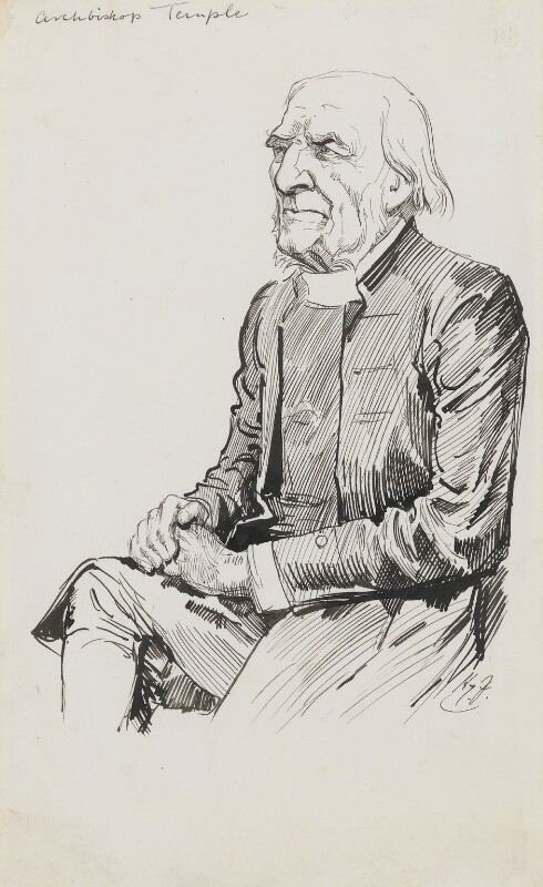 Frederick Temple, by Harry Furniss, 1880s-1900s - NPG 3522 - © National Portrait Gallery, London