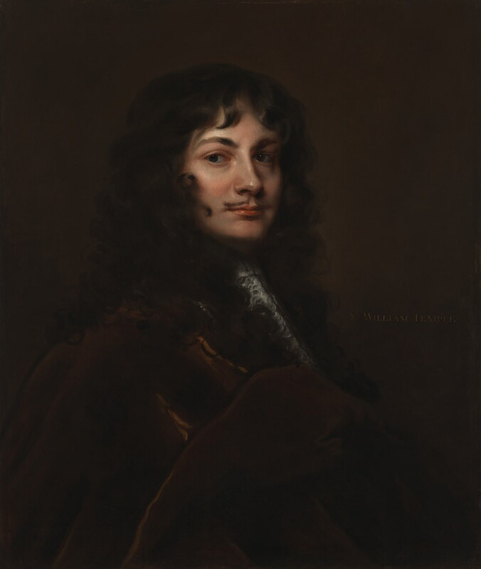 Sir William Temple, Bt, after Sir Peter Lely, based on a work of circa 1660 - NPG 152 - © National Portrait Gallery, London