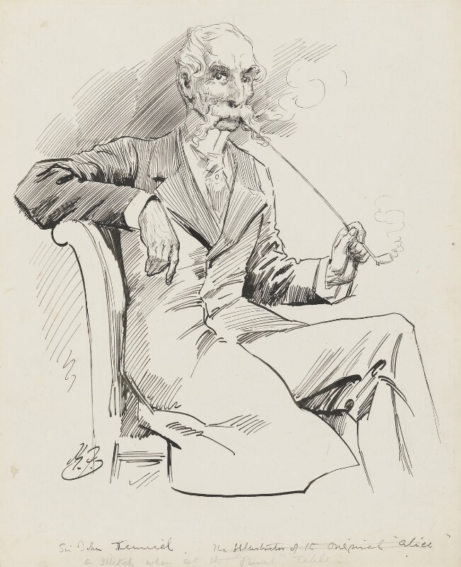 Sir John Tenniel, by Harry Furniss, 1880s-1900s -NPG 3527 - © National Portrait Gallery, London