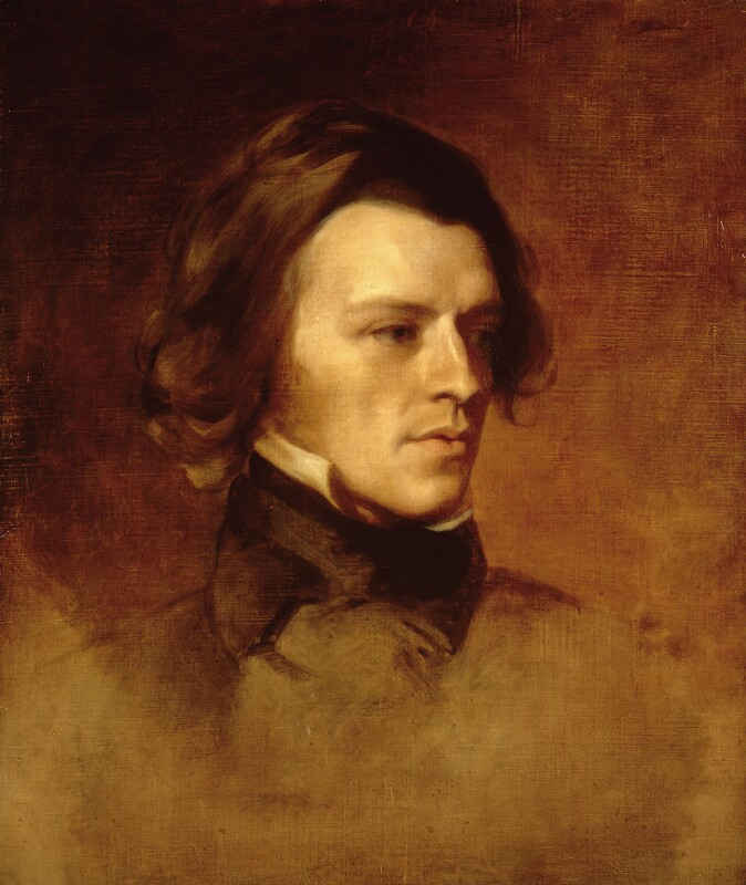 Alfred, Lord Tennyson, by Samuel Laurence, and  Sir Edward Coley Burne-Jones, 1st Bt, circa 1840 - NPG 2460 - © National Portrait Gallery, London