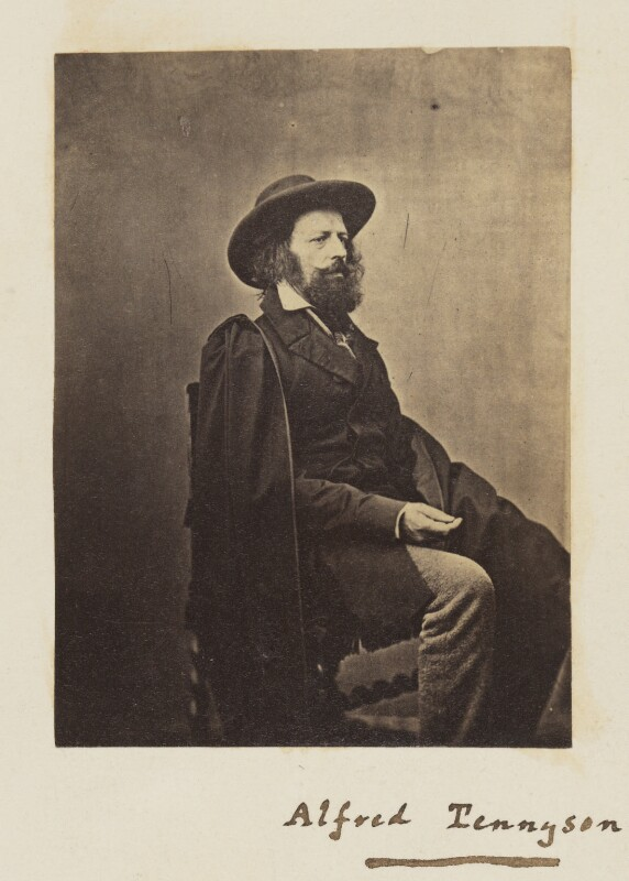 Alfred, Lord Tennyson, by James Mudd, 1861 - NPG P34 - © National Portrait Gallery, London