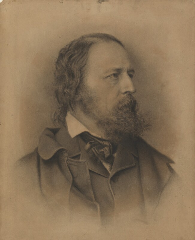 Alfred, Lord Tennyson, by M. Arnault, after a photograph by  John Jabez Edwin Mayall, late 19th century, based on a work of 1864 - NPG 970 - © National Portrait Gallery, London