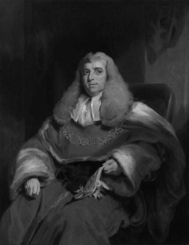 Charles Abbott, 1st Baron Tenterden, by John Hollins; William Owen, 1850, based on a work exhibited in 1819 -NPG 481 - © National Portrait Gallery, London