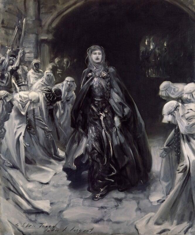 Ellen Terry as Lady Macbeth, by John Singer Sargent, 1906, based on a work of 1889 -NPG 2273 - © National Portrait Gallery, London