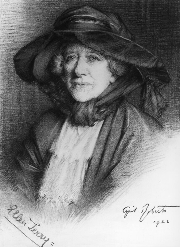 Ellen Terry, by Cyril Roberts, 1923 - NPG 3662 - © reserved; collection National Portrait Gallery, London