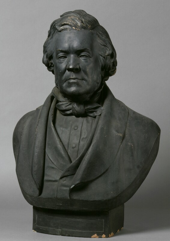 William Makepeace Thackeray, by Sir Joseph Edgar Boehm, 1st Bt; Joseph Durham, 1878, based on a work of 1864 -NPG 495a - © National Portrait Gallery, London