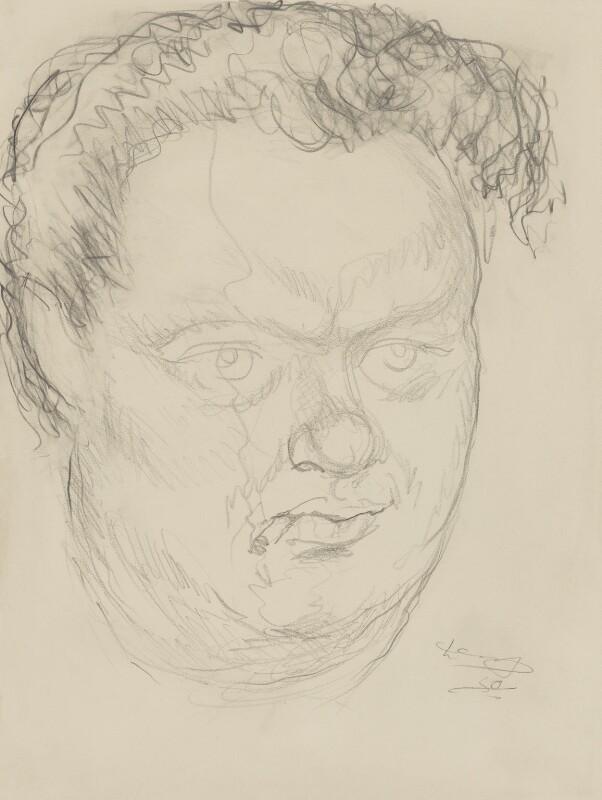 Dylan Thomas, by Mervyn Levy, 1950 - NPG 4335 - © National Portrait Gallery, London