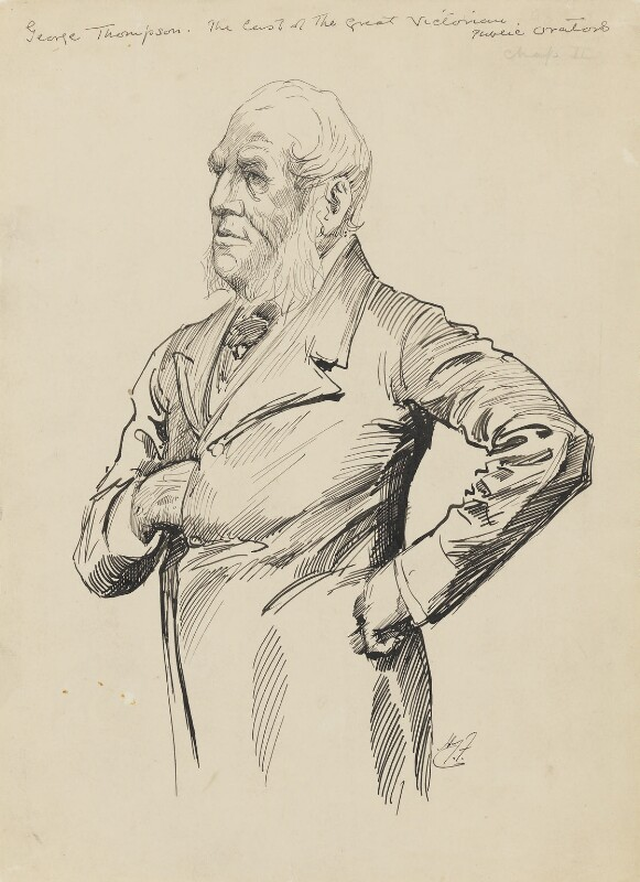 George Thompson, by Harry Furniss, 1880s-1900s -NPG 3523 - © National Portrait Gallery, London