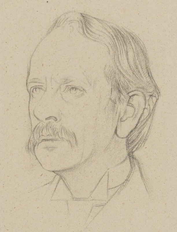 Sir Joseph John Thomson, by William Rothenstein, 1915 - NPG 4796 - © National Portrait Gallery, London
