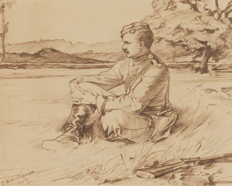 Hamo Thornycroft, by Theodore Blake Wirgman, 1880 - NPG 2218 - © National Portrait Gallery, London
