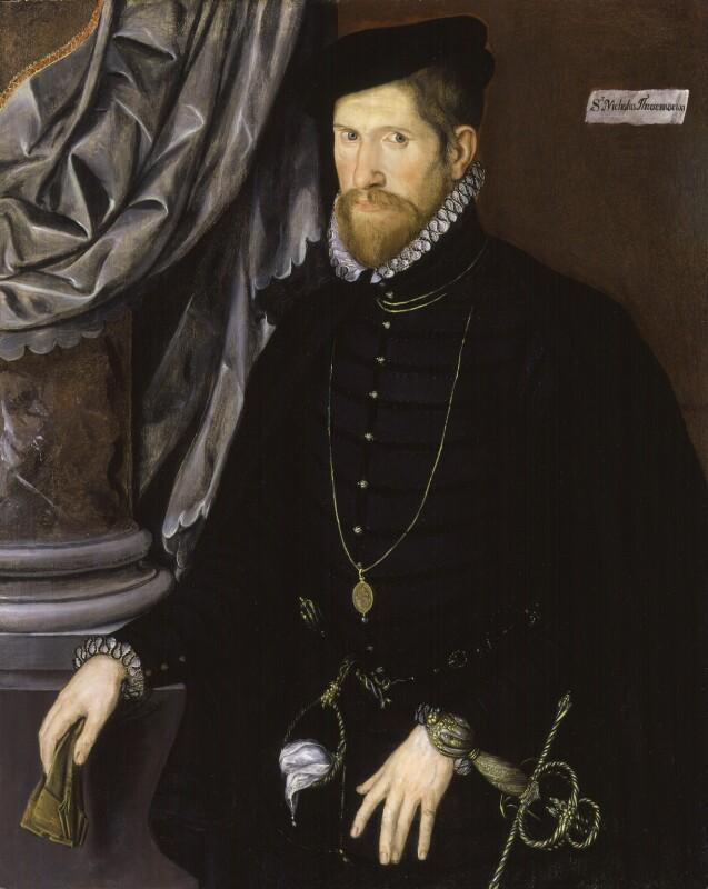Sir Nicholas Throckmorton, by Unknown Anglo-Netherlandish artist, circa 1562 - NPG 3800 - © National Portrait Gallery, London