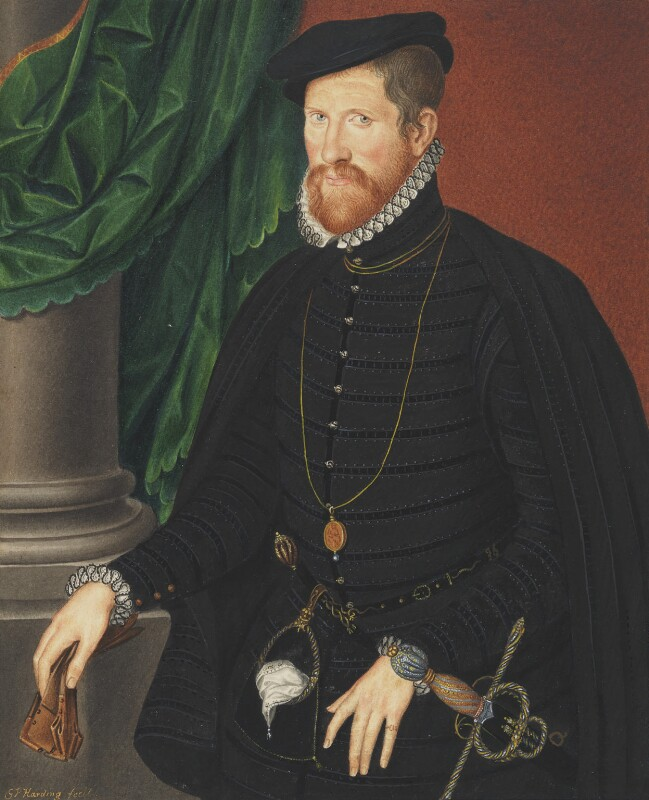 Sir Nicholas Throckmorton, by George Perfect Harding, after  Unknown Anglo-Netherlandish artist, circa 1812, based on a work of after circa 1562 - NPG 1492(a) - © National Portrait Gallery, London