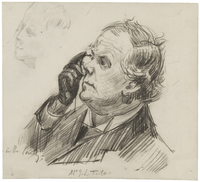 John Lawrence Toole, by Sydney Prior Hall, published in The Graphic 16 February 1889 - NPG 2264 - © National Portrait Gallery, London