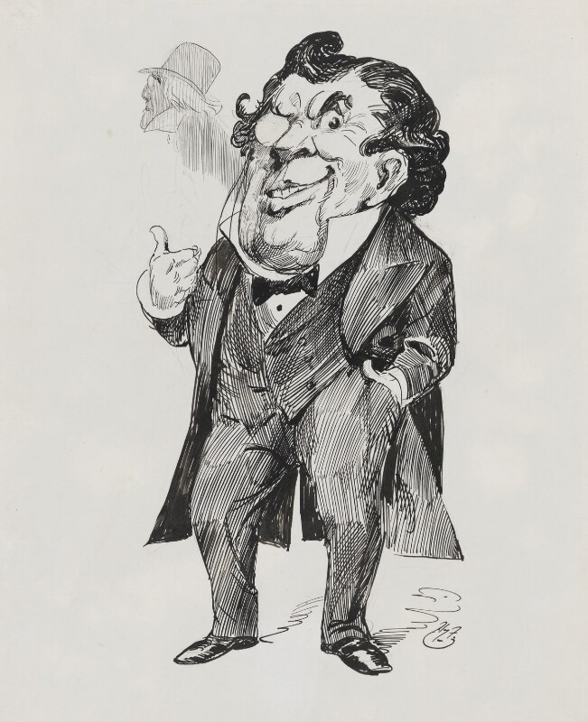 John Lawrence Toole, by Harry Furniss, 1880s-1900s - NPG 3528 - © National Portrait Gallery, London