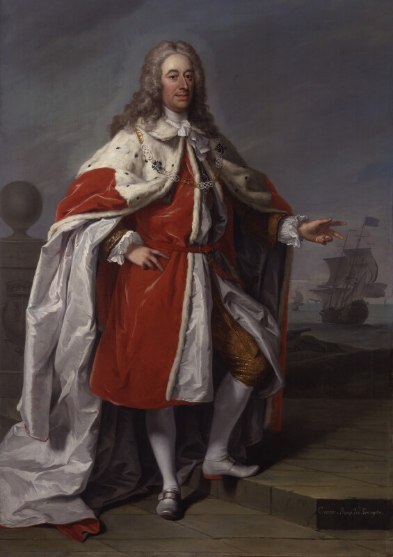 George Byng, 1st Viscount Torrington, by Jeremiah Davison, circa 1730 - NPG 14 - © National Portrait Gallery, London