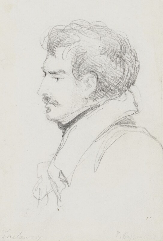 Edward John Trelawny, by Bryan Edward Duppa,  - NPG 2882 - © National Portrait Gallery, London