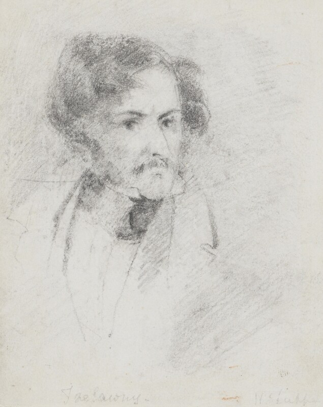 Edward John Trelawny, by Bryan Edward Duppa,  - NPG 2883 - © National Portrait Gallery, London