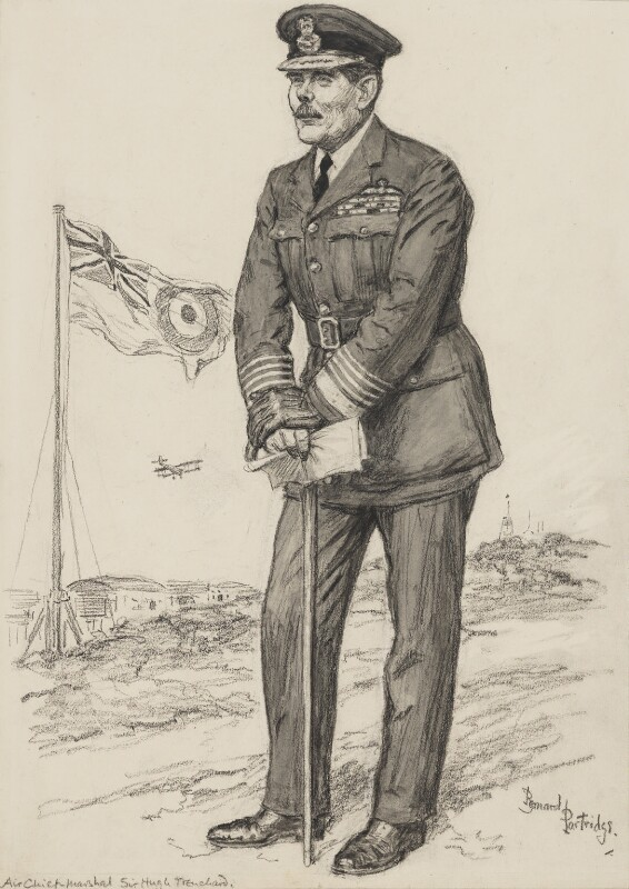 Hugh Montague Trenchard, 1st Viscount Trenchard, by Bernard Partridge, published in Punch 2 March 1927 - NPG 3677 - © National Portrait Gallery, London