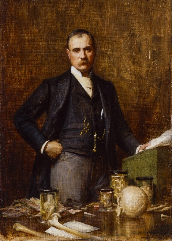 Sir Frederick Treves, 1st Bt, reduced replica by Luke Fildes, 1896 - NPG 2917 - © National Portrait Gallery, London
