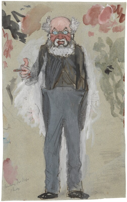 Anthony Trollope, by Sir Leslie Ward, study for drawing published in Vanity Fair 5 April 1873 - NPG 3915 - © National Portrait Gallery, London