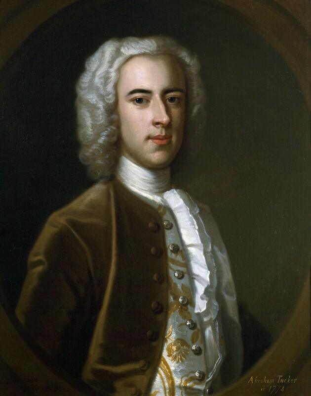 Abraham Tucker, by Enoch Seeman, 1739 - NPG 3942 - © National Portrait Gallery, London