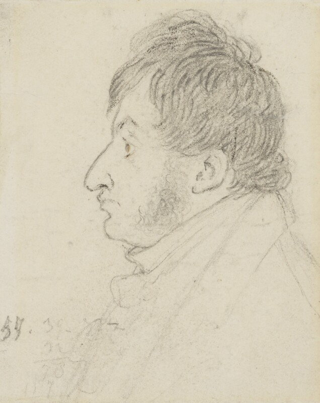 J.M.W. Turner, by Charles Robert Leslie, 1816 -NPG 4084 - © National Portrait Gallery, London