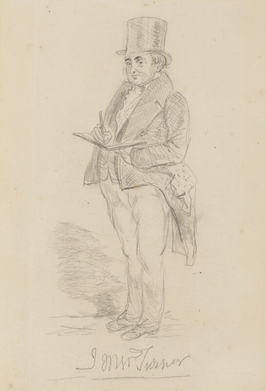 J.M.W. Turner, by Charles Martin, 1844 -NPG 1483 - © National Portrait Gallery, London