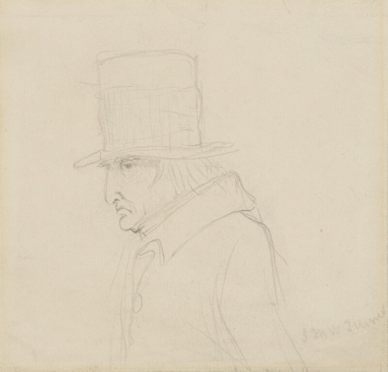 Joseph Mallord William Turner, by Charles Hutton Lear, circa 1847 - NPG 1456(25) - © National Portrait Gallery, London