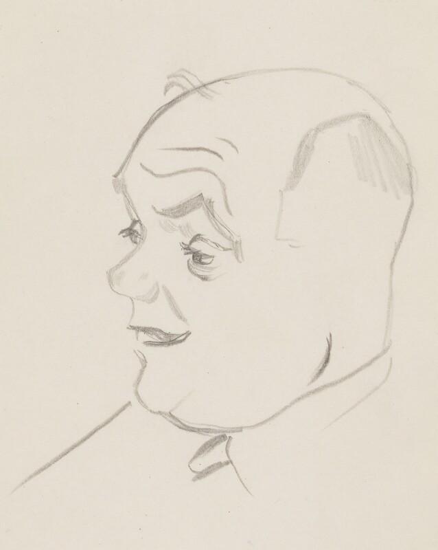 Donald Tyerman, by Sir David Low, circa 1950s-1963 - NPG 4529(368) - © Solo Syndication Ltd
