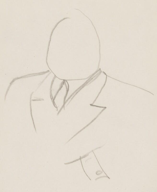 Donald Tyerman, by Sir David Low, circa 1950s-1963 - NPG 4529(370) - © Solo Syndication Ltd