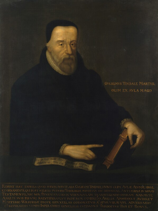 Called William Tyndale, by Unknown artist, late 17th or early 18th century - NPG 1592 - © National Portrait Gallery, London