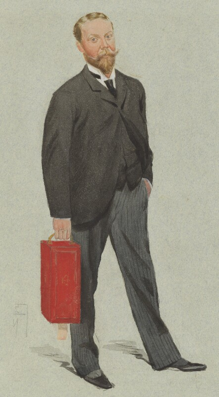 James William Lowther, 1st Viscount Ullswater, by Sir Leslie Ward, published in Vanity Fair 19 December 1891 - NPG 4610 - © National Portrait Gallery, London