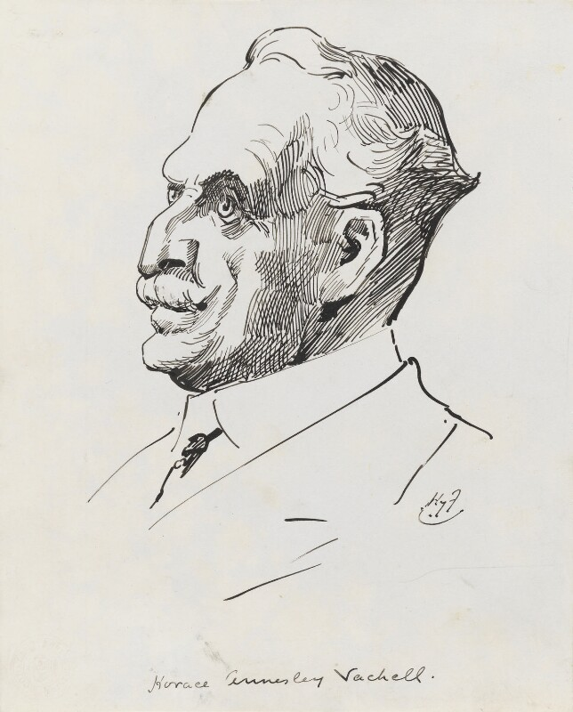 Horace Annesley Vachell, by Harry Furniss, 1880s-1900s - NPG 3531 - © National Portrait Gallery, London
