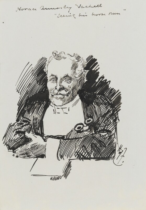 Horace Annesley Vachell, by Harry Furniss, 1880s-1900s - NPG 3616 - © National Portrait Gallery, London