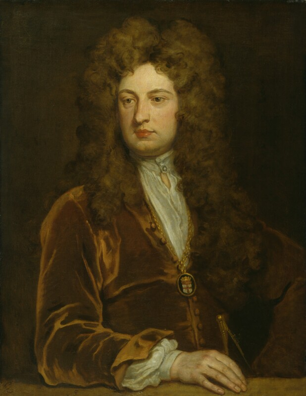 Sir John Vanbrugh, by Sir Godfrey Kneller, Bt, circa 1705 - NPG 3231 - © National Portrait Gallery, London