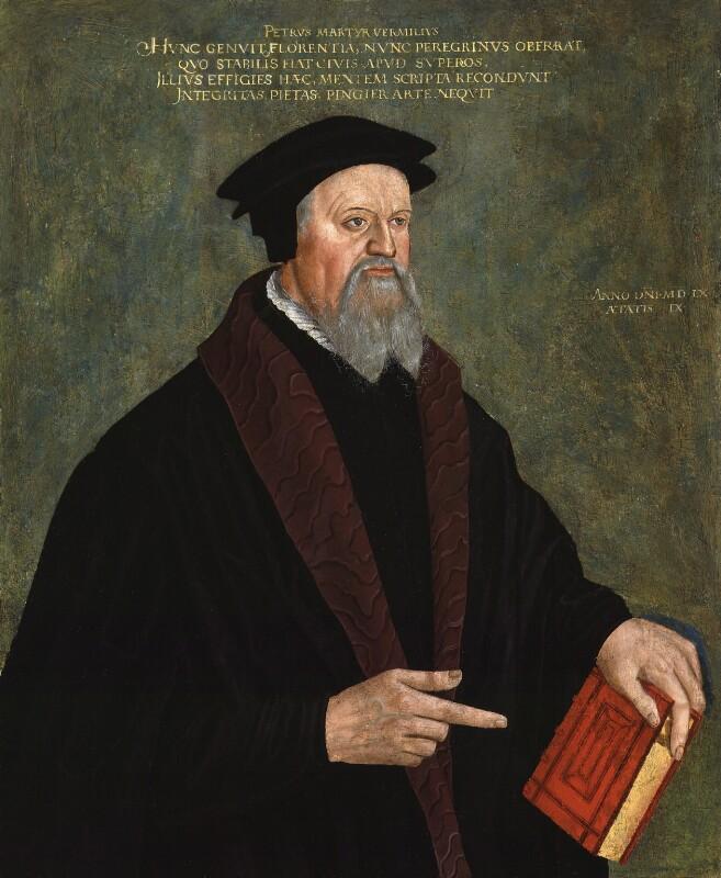 Pietro Vermigli, by Unknown artist, 1560 - NPG 195 - © National Portrait Gallery, London