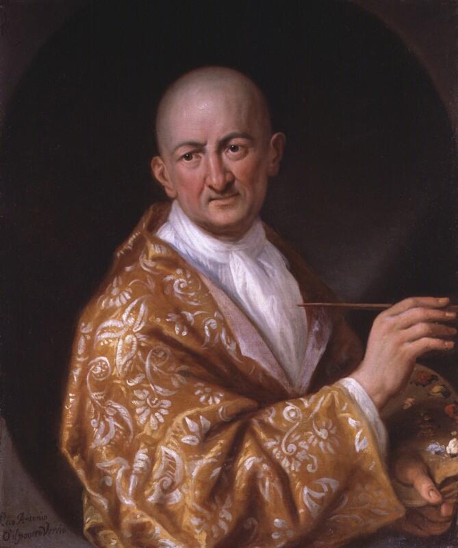 Antonio Verrio, by Antonio Verrio, circa 1704 -NPG 2890 - © National Portrait Gallery, London