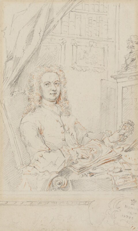 George Vertue, by George Vertue, 1741 -NPG 4876 - © National Portrait Gallery, London