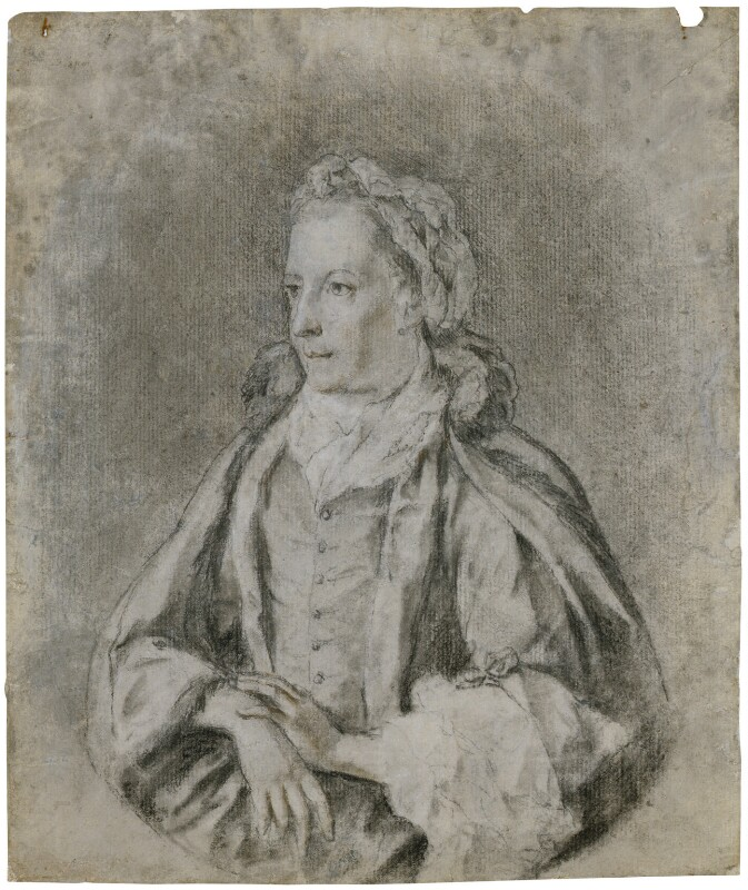 Elizabeth Vesey, by Unknown artist, circa 1770 - NPG 3131 - © National Portrait Gallery, London