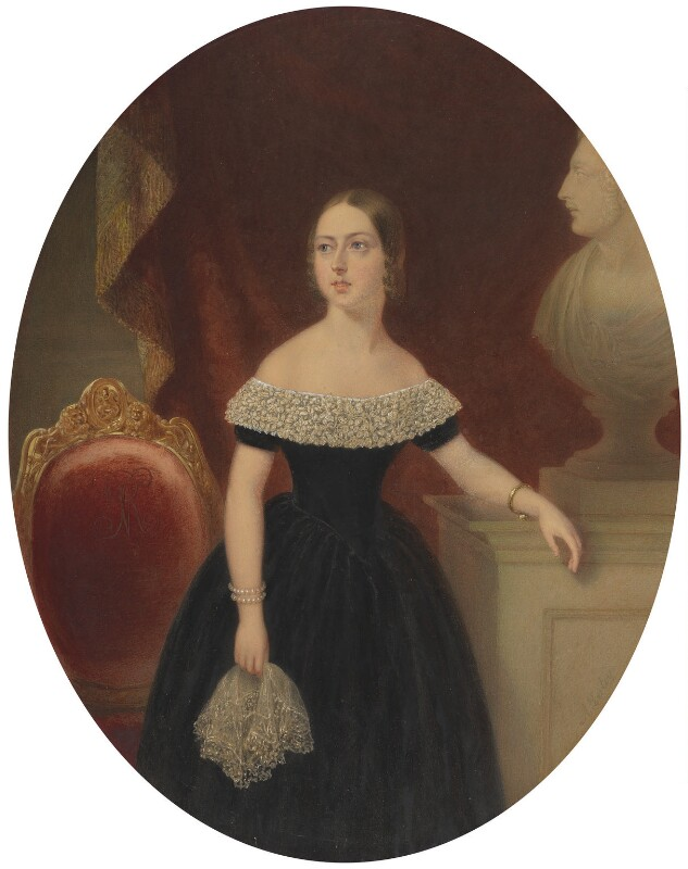 Queen Victoria, by Aaron Edwin Penley, circa 1840 - NPG 4108 - © National Portrait Gallery, London